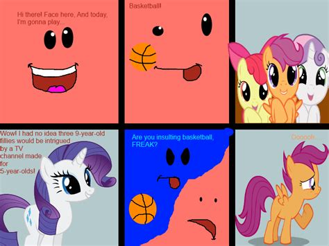 painting nick jr nick jr s basketball insult by blocklanrainbowbrony on
