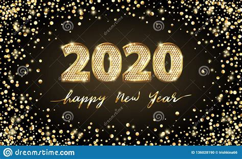 golden vector luxury text  happy  year gold festive numbers design gold glitter