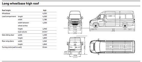 volkswagen crafter dimensions glazing vans volkswagen crafter