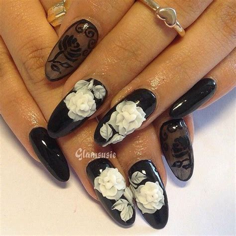 3d style black and white 51 stunning 3d nail designs to look ravishing in every