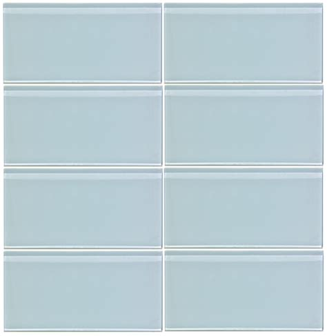 glass tiles vapor blue glass 3x6 subway tile 8mm
