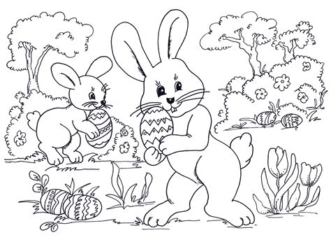 easter sheet colouring pages