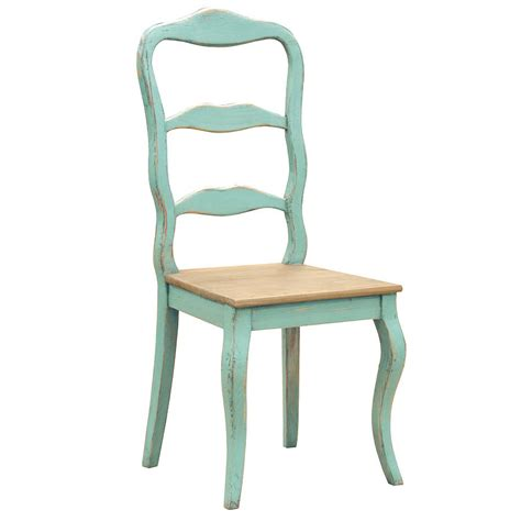 distressed dining room chairs distressed turquoise dining chair by out there interiors