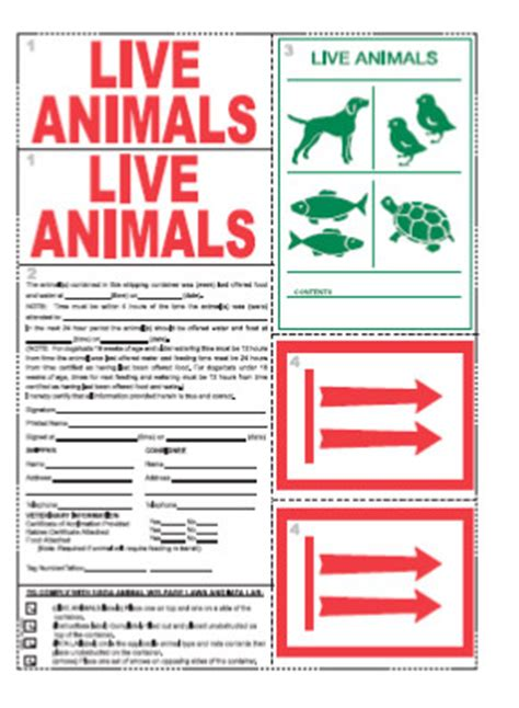 printable live animal stickers traveling with pets required labeling united airlines