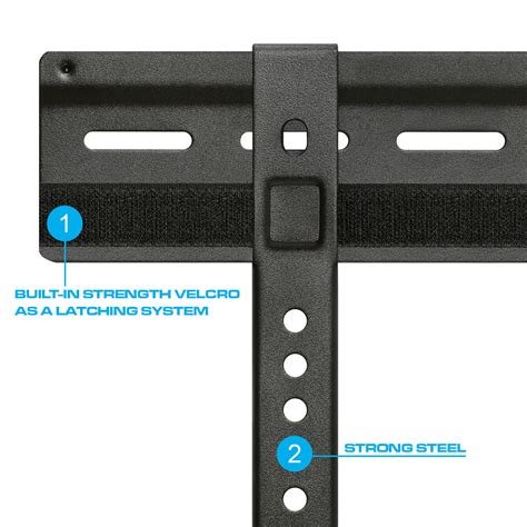 Velcro Mount extremely slim velcro fixed wall mount for 32 quot 63 quot lcd led tv s
