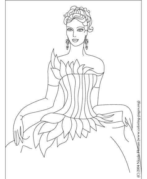 Printable Princess Coloring Pages Sheets And Pictures 01 Color Pages Of Princess Printable