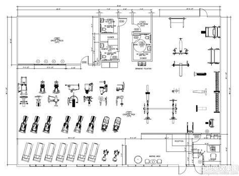 fitness center floor plan design 健身房平面设计图 土巴兔装修效果图