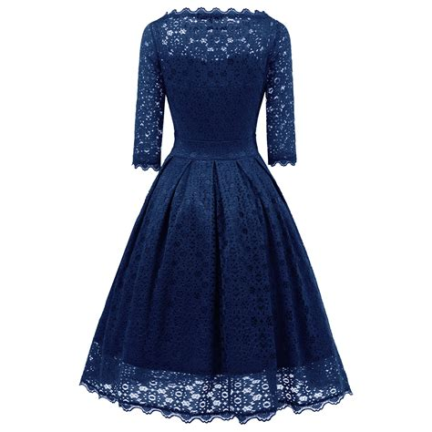 3 4 Sleeve A Line Midi Dress 3 4 sleeve vintage evening sheer pleated a