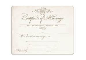 printable marriage certificate template 17 best ideas about wedding certificate on