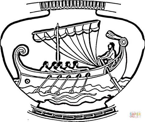 vaso greco da colorare disegno di vaso ornamentale con nave da colorare disegni