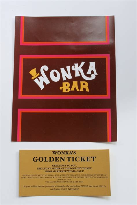 wonka bar golden ticket invitations donuts