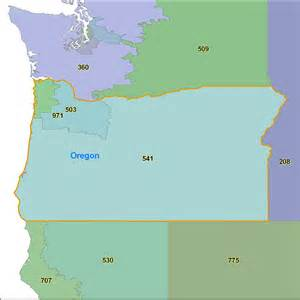 oregon area code maps oregon telephone area code maps