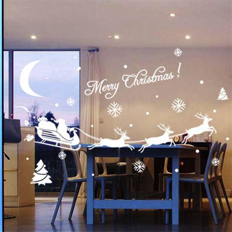 Weihnachtsdeko Fenster Aufkleber by Mode Frohe Weihnachten Fenster Aufkleber Dekoration