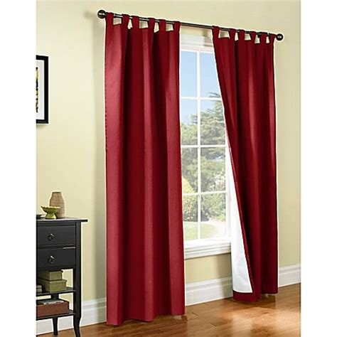 Burgundy Tab Top Curtains Buy Thermalogic 174 Weathermate 54 Inch Tab Top Window Curtain Panel Pair In Burgundy From Bed Bath
