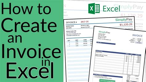 How To Create An Invoice In Excel Free Invoice Template Download Youtube How To Make A Template In Excel