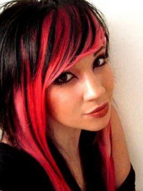 black  red hairstyles