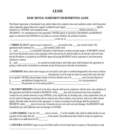 basic month to month rental agreement anuvrat info