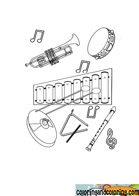 musical instrument coloring book pages free musical instruments coloring pages