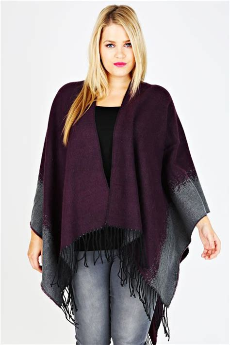 ombre double top grey grey and purple ombre wrap with tassels