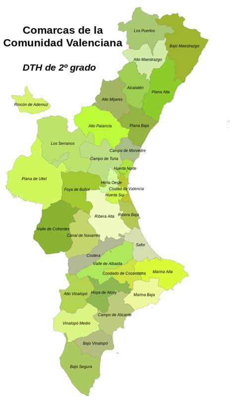 valencia y comunidad valenciana 8497760484 file mapa comarcal de la comunidad valenciana svg wikimedia commons