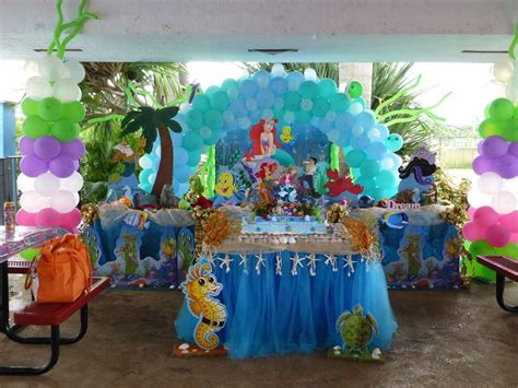 little decorations mermaid birthday party with under the sea decorations