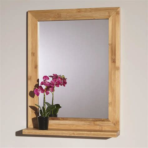 bamboo bathroom mirror 24 quot liani bamboo vanity mirror contemporary bathroom