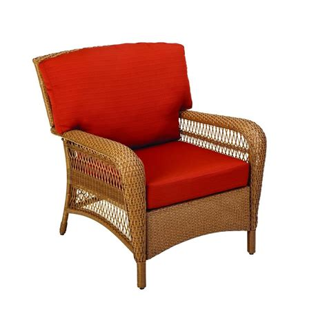 Wicker Patio Chair Martha Stewart Living Charlottetown All Weather Wicker Patio Lounge Chair With Quarry