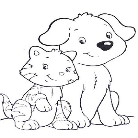 printable coloring pages of cats and dogs cat coloring pages printable animals agus coloring pages