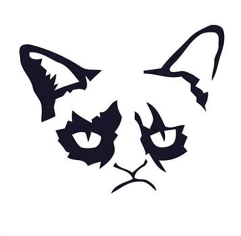 Meme Pumpkin Stencil - cat stencils for walls memes