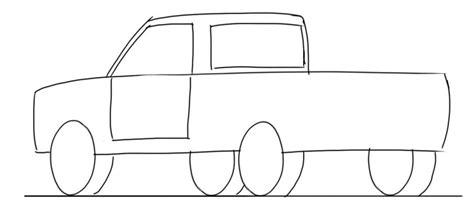 drawing pattern car car drawing tutorial pick up truck 3 4 rear view junior
