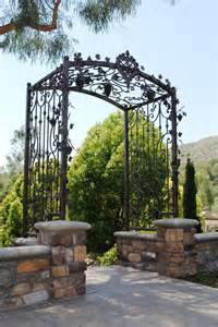 Garden Arbor With Gate Wrought Iron Wrought Iron Arbor Home Remodeling Ideas In House