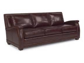 flexsteel living room leather sofa 1260 31 brownlee s - Flexsteel Leather Sofa