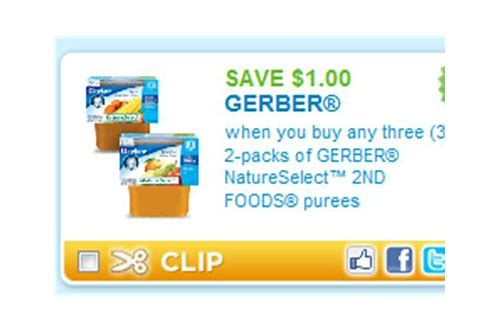 printable coupons gerber baby food