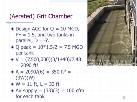design criteria for grit chamber week8