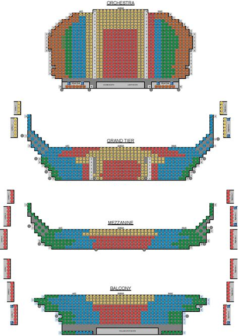 belk theater seating map cso seating chart theaters parking accessibility