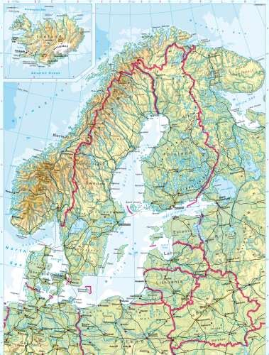 map northern europe scandinavia maps northern europe physical map diercke