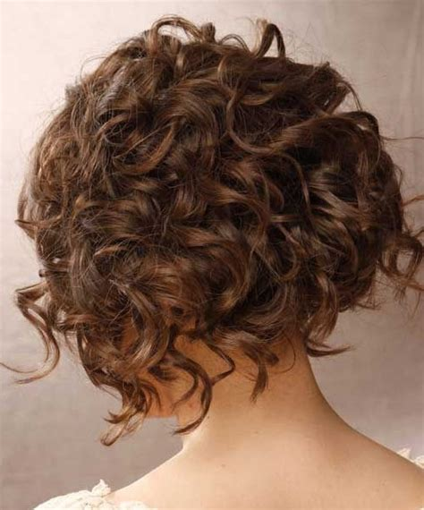 bob haircuts for curly hair front and back short curly bob hairstyles back view