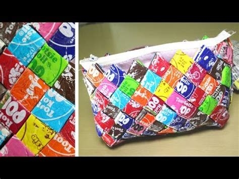 diy candy wrapper purse youtube