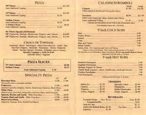 menu for davinci s pizzeria 3936 n blvd