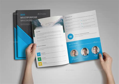 Material Design Leaflet | material design brochure template by nashoaib graphicriver