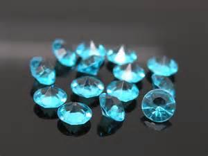 Vase Decorations For Weddings 500pcs 6 5mm Acrylic Turquoise Diamonds Confetti Wedding