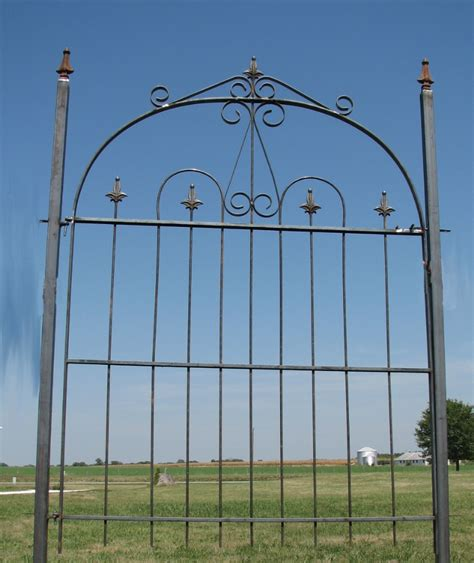 wide gate wrought iron handmade 4 wide gate for 4 fence