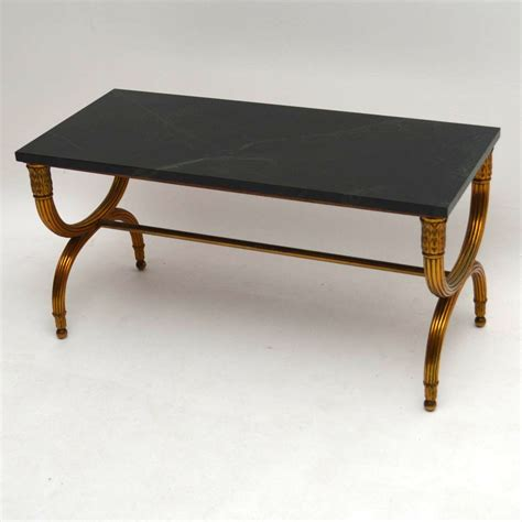 metal coffee tables for sale antique french gilt metal marble top coffee table