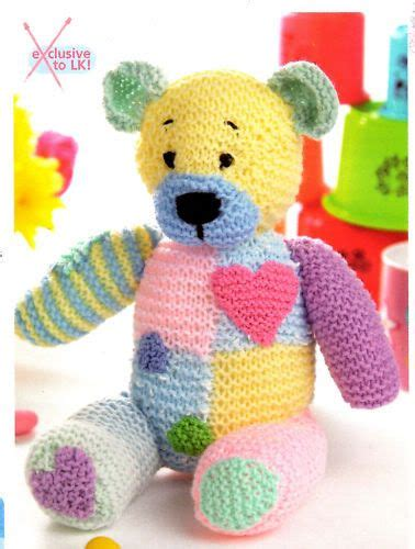 Free Patchwork Teddy Pattern - details about patch patchwork teddy knitting