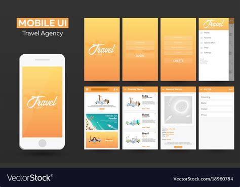 app design agency mobile app travel agency material design ui ux vector image
