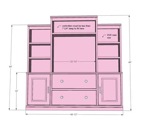 home entertainment center plans pdf diy entertainment center plans download folding bench