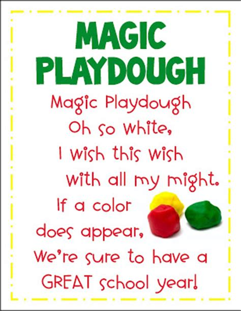 printable playdough recipes magic playdoh first day fun free printables mrs