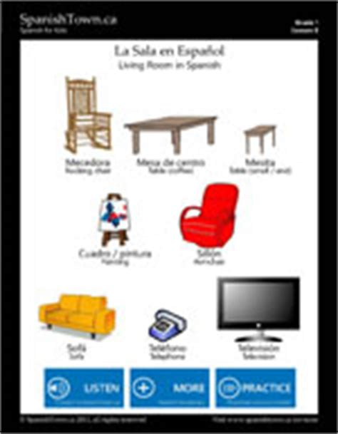 Living Room Lesson Plan Lesson 8 Vocabulary Sheets