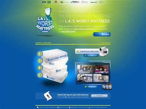 Sweepstakes Website Template - mattress contest template by lifiedshock on deviantart