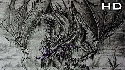 dibujos realistas tutorial como dibujar un dragon realista a lapiz paso a paso